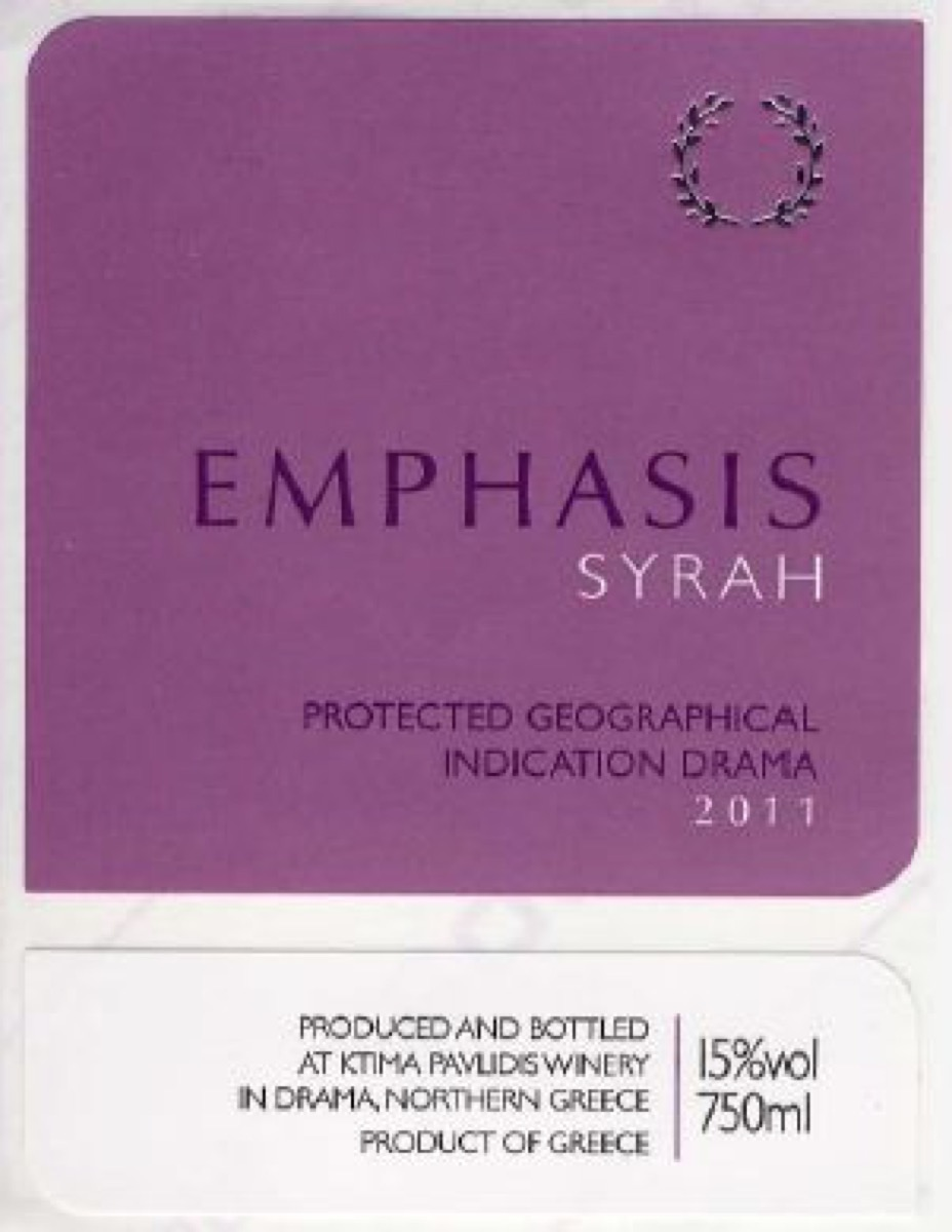 EMPHASIS SYRAH-2011
