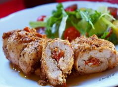 CHICKEN STUFFED WITH MANOURI PHOTO