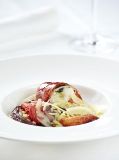 LOBSTER AND OCTOPUS WITH ORZO PASTA 'GIOUVETSI'