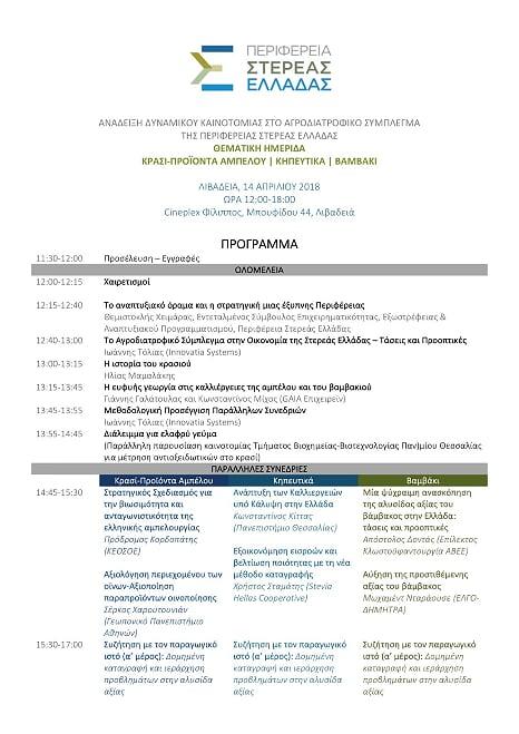 Παρουσίαση από την ΚΕΟΣΟΕ της αναγκαιότητας του Στρατηγικού Σχεδιασμού της ελληνικής αμπελουργίας στην θεματική ημερίδα της Περιφέρειας Στ. Ελλάδας