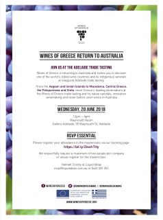 Wines of Greece_2018_Invite_Adelaide